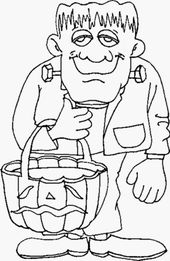 Halloween Coloring Pages for Children   Educative Printable