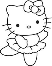 Free Hello Kitty Coloring Pages to Print Out | Learning Printable